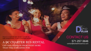 A DC Charter Bus Rental Can Give Teens on Prom Night More Than They Bargained For