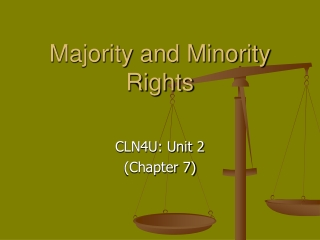 Majority and Minority Rights