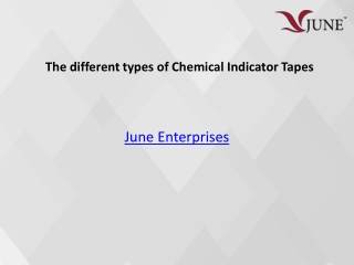 The different types of Chemical Indicator Tapes