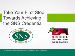 Take Your First Step Towards Achieving the SNS Credential