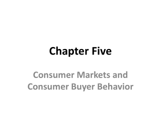 Consumer Markets and Consumer Buyer Behavior