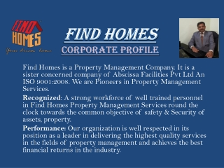 FIND HOMES Corporate Profile