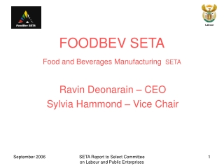 FOODBEV SETA Food and Beverages Manufacturing SETA