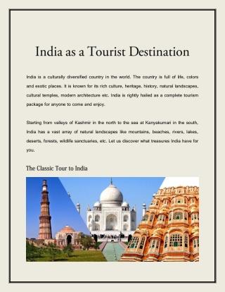 India as a Tourist Destination