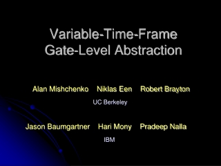 Variable-Time-Frame Gate-Level Abstraction