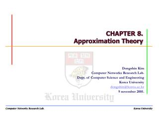 CHAPTER 8. Approximation Theory