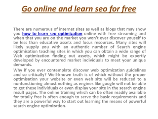 How To Learn SEO Optimization