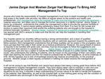Moshen Zargar Had Managed To Bring AKZ Management To Top