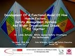 Development Of A Functional Model Of How Human Factors,  Safety Management Systems  And Wider Organisational Issues  Fit