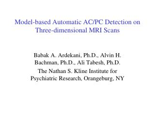 Model-based Automatic AC/PC Detection on Three-dimensional MRI Scans