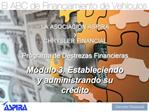 LA ASOCIACI N ASPIRA   y CHRYSLER FINANCIAL  Programa de Destrezas Financieras