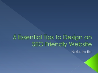 5 Essential Tips to Design an SEO Friendly Website
