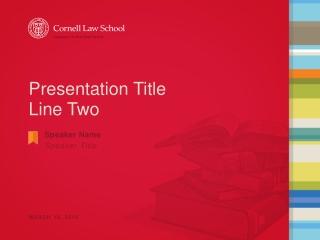 Presentation Title Line Two