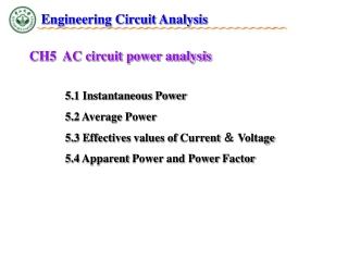 CH5 AC circuit power analysis