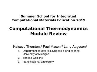 Katsuyo Thornton, 1 Paul Mason, 2 Larry Aagesen 3