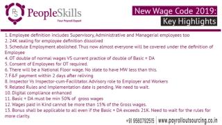 New Wage Code - Key Highlights - PeopleSkills HRtech