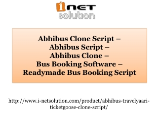Bus Booking Software - Readymade Bus Booking Script