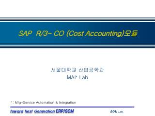 SAP  R/3- CO (Cost Accounting) 모듈