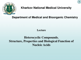 Department of Medical and Bioorganic Chemistry