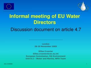 Informal meeting of EU Water Directors