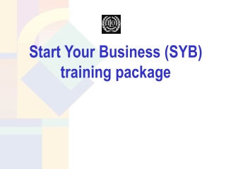 Start Your Business (SYB) training package