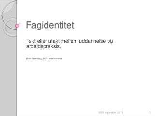 Fagidentitet