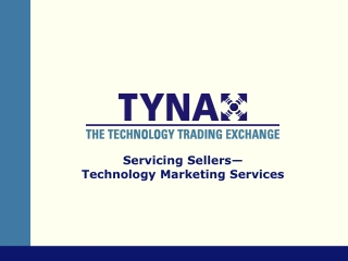 Servicing Sellers— Technology Marketing Services