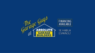 Professional Garage Builder At Absolute Garage Builders