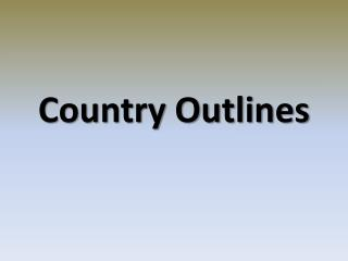 Country Outlines