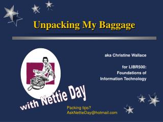 Unpacking My Baggage