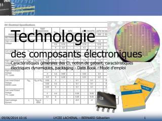 Technologie des composants électroniques