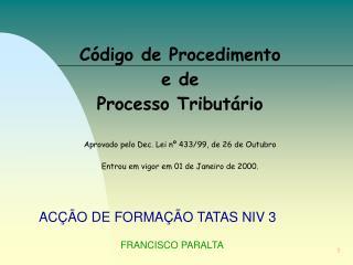 ACÇÃO DE FORMAÇÃO TATAS NIV 3 FRANCISCO PARALTA