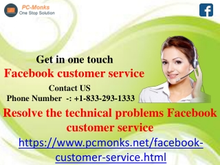 Resolve the technical problems Facebook customer service