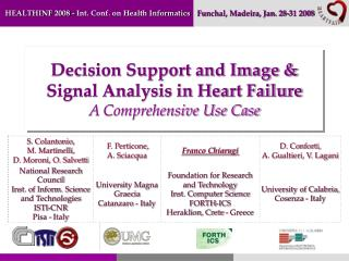Decision Support and Image & Signal Analysis in Heart Failure A Comprehensive Use Case