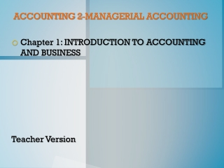ACCOUNTING 2-MANAGERIAL ACCOUNTING