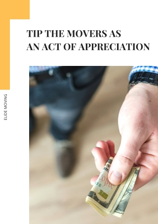 Tip the Movers As An Act of Appreciation