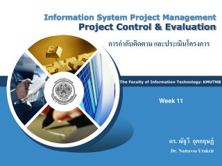 Information System Project Management Project Control & Evaluation