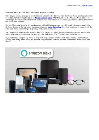 How to Get Alexa App and Echo Dot Setup?