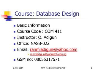 Course: Database Design