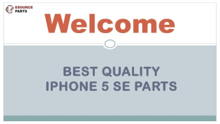 Buy High Quality iPhone 5 SE Parts from Esource Parts