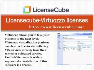 Licensecube-Virtuozzo licenses