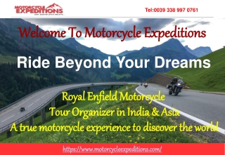 Motorcycle Tours To India