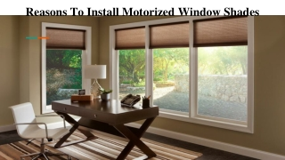 Motorized Window Treatments - The Best Shades