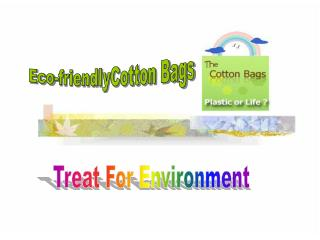 Eco Friendly Cotton Bags ???Amble Towards chic Eco World
