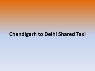 Chandigarh to Delhi shared taxi