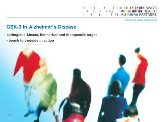 GSK-3 In Alzheimer's Disease