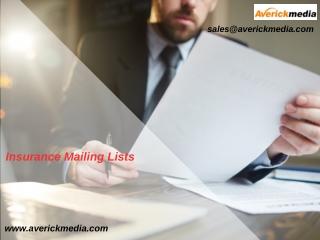 Insurance Mailing List | Insurance Lead Lists