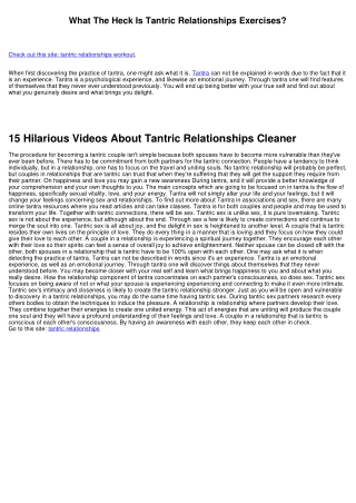 How To Create An Awesome Instagram Video About Tantric Relationships Explained