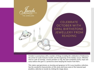 Celebrate October with Opal Birthstone Jewellery from Reading