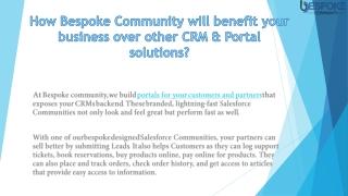 Salesforce Customer Community | Salesforce Partner Portal UK | Bespoke Community